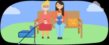 women parenting